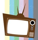 Retro televisione con il fondo di colore Fotografia Stock Libera da Diritti