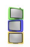 Retro televisioni Fotografia Stock Libera da Diritti