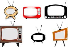 Retro televisions Stock Photo