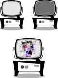 Retro televisions Stock Image