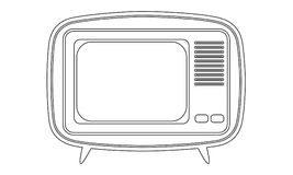 Retro televisionsymbol Arkivbild