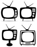 Retro televisori Fotografia Stock