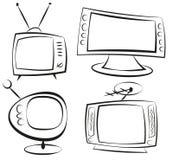 retro telewizja Obraz Stock