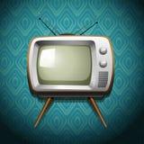 Retro telewizja na tapecie ilustracja wektor