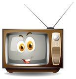 Retro telewizja z szczęśliwą twarzą Zdjęcie Royalty Free