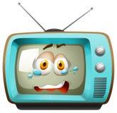 Retro telewizja z twarzą Zdjęcia Stock