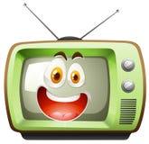 Retro telewizja z twarzą Obraz Royalty Free