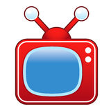 Retro telewizor royalty ilustracja