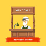 Retro teller pawn shop window Stock Image