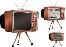 Retro telvision sety Obrazy Stock