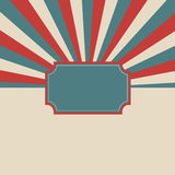 Retro template background. Royalty Free Stock Photography