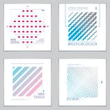 Retro template for banners, advertising, posters and brochures. Abstract stripped line geometric vector backgrounds set. Future geometric design templates Stock Image