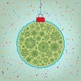 Retro template - Beautiful Christmas ball. EPS 8 Royalty Free Stock Photos