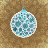Retro template - Beautiful Christmas ball. EPS 10 Royalty Free Stock Image