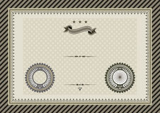 Retro template certificate with seals vector illustration