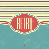 Retro Template Design - Vintage Background stock illustration