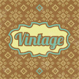 Retro Template Design - Vintage Background Royalty Free Stock Images