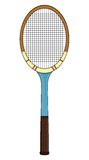 Retro tennis racket. Vector illustrations of the Retro tennis racket Royalty Free Stock Images