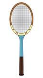 Retro tennis racket Royalty Free Stock Images