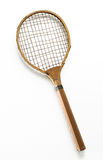 Retro Tennis Raquet on White Background Stock Photos