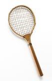 Retro Tennis Raquet on White Background Stock Photos
