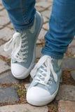 Retro tennis shoes Stock Photos