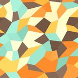 Retro tetragon mosaic pattern. Seamless vector polygonal background. With beige, brown, orange, yellow, green tertagons Royalty Free Stock Photography