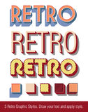 Retro Text Graphic Styles Stock Image