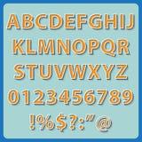 Retro Text style alphabet collection set. Royalty Free Stock Photos