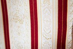Retro textile fabric with ornament Royalty Free Stock Photography