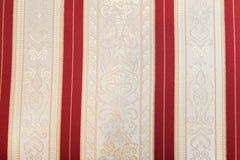 Retro textile fabric with ornament Stock Image