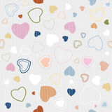 Retro Textile Seamless Hearts Pattern Royalty Free Stock Photo