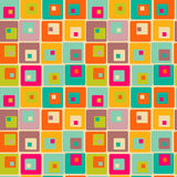Retro texture with squares. Seamless retro texture with squares Royalty Free Stock Photos