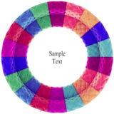 Retro textuur van de fluweelcirkel Stock Afbeeldingen