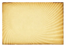 Retro textuur van de zonnestraal op uitstekend document. Stock Afbeeldingen