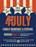 Retro 4th of July grunge flyer template Royalty Free Stock Photography