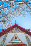 Retro Thai architecture in spring season Stock Image