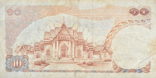 Retro thai banknote Royalty Free Stock Images