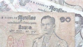 Retro thai banknotes Royalty Free Stock Photo
