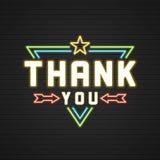 Retro Thank You Message Sign Design Stock Photo