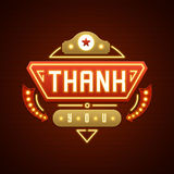 Retro Thank You Message Sign Design Stock Photos