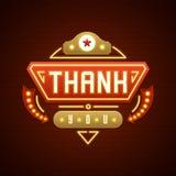 Retro Thank You Message Sign Design Stock Photos