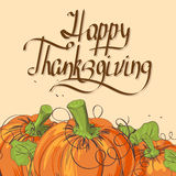 Retro Thanksgiving card Royalty Free Stock Photography