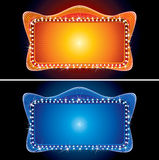 Retro Theater Marquee with Spotlight Stock Photography