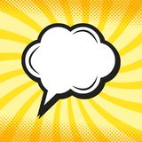 Retro thinking speech bubble in Pop Art comic style. Vector Illustration Royalty Free Stock Photos