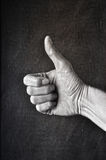 Retro thumb up Royalty Free Stock Image