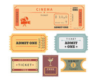 Retro tickets set Royalty Free Stock Photo