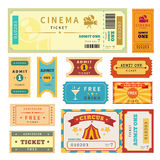 Retro tickets set Stock Photos
