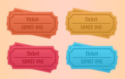 Retro tickets Royalty Free Stock Images