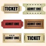 Retro Tickets Vectors. Abstract vintage tickets  elements set Stock Photos
